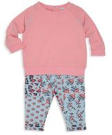 Splendid Baby's Stitched Sweatshirt and Floral Leggings Set