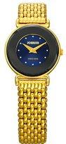 Jowissa Women's J3.026.S Elegance 24 mm Gold PVD Blue Dial Steel Watch
