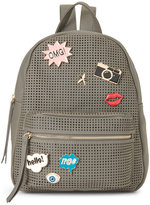 Imoshion Grey Embellished Perforated Backpack