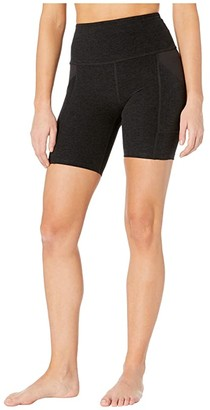 Beyond Yoga Spacedye In The Mix High Waisted Biker Shorts (Darkest Night) Women's Shorts