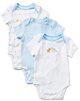 Little Me Baby Boys Newborn-9 months Fun Safari Bodysuit Three-Pack