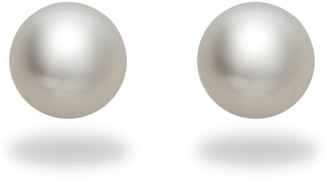 """Tara Pearls Classic Collection"""" 18k White Gold Natural Color White South Sea Cultured Pearl Stud Earrings 9-10mm"""