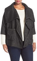 NYDJ Plus Size Women's Crop Wrap Blanket Coat
