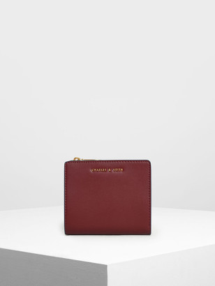 Charles & Keith Classic Mini Snap Button Wallet