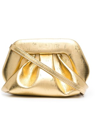 Themoire Metallic-Effect Faux-Leather Clutch Bag