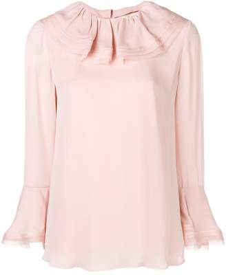 Tory Burch ruffled collar silk blouse