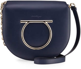 Salvatore Ferragamo Vela Gancini Flap Shoulder Bag