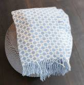 Ella James Sea Blue Geometric Throw