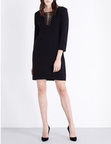 The Kooples Lace-up collar crepe dress