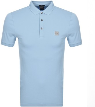 BOSS Passenger Short Sleeved Polo T Shirt Blue