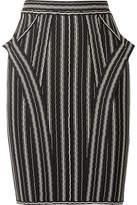 Herve Leger Striped Bandage Mini Skirt - Black