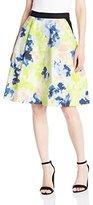 Ellen Tracy Women's Elastic Waist Pleated Skirt