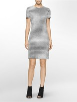 Calvin Klein Houndstooth Shift Dress
