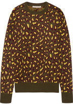 Christopher Kane Leopard-Intarsia Cashmere Sweater