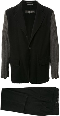 Comme des Garcons Junya Watanabe Pre Owned knitted sleeves two-piece suit