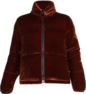 Moncler Cropped Zip-Up Puffer Jacket