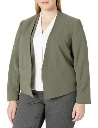 Nine West Women's Plus Size V Neck Jacket