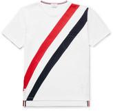 Thom Browne Slim-Fit Striped Cotton-Jersey T-Shirt