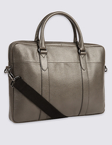 M&S Collection Pebble Grain Leather Briefcase