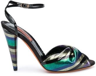 Missoni Color-Block Ankle Sandals