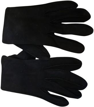 Christian Dior Black Suede Gloves