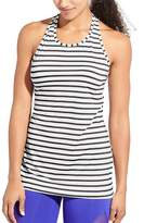Athleta High Neck Stripe Chi Tank