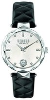 Versus By Versace Women's 'COVENT GARDEN' Quartz Stainless Steel and Leather Casual Watch, Color:Black (Model: SCD010016)