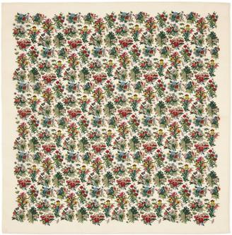 Gucci Floral bouquet print cotton scarf