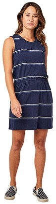 Carve Designs Camila Dress (Navy Vintage Stripe) Women's Dress