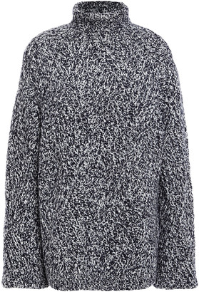 Victoria Victoria Beckham Marled Wool-blend Turtleneck Sweater