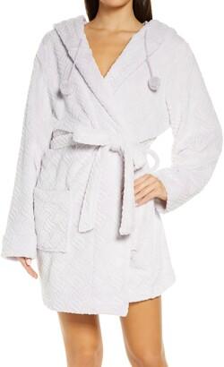 Honeydew Intimates Winter Night Hooded Fleece Short Robe