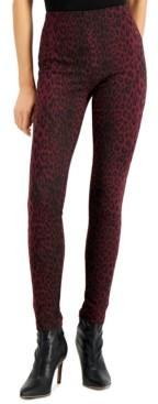 INC International Concepts Inc Animal-Print Skinny Pants, Created for Macy's