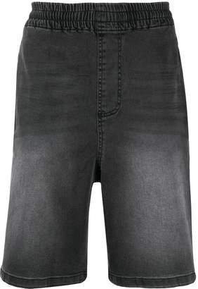Kappa logo tape denim shorts