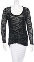 Helmut Lang Silk Open-Knit Sweater