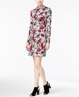 Kensie Floral-Print Mock-Turtleneck Dress