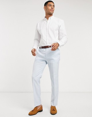 Topman slim fit suit pants in light blue