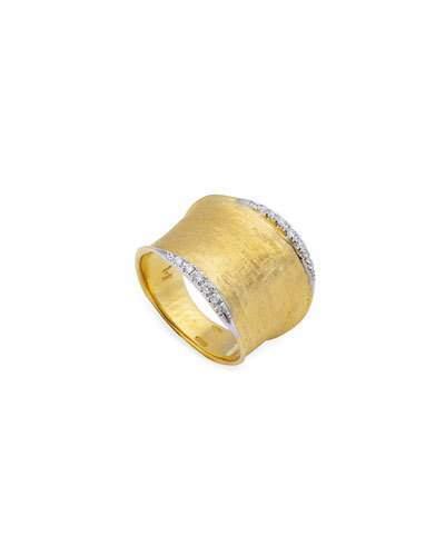 Marco Bicego Lunaria Medium Band Ring with Diamonds
