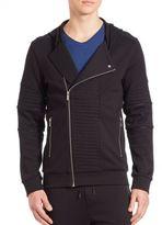HUGO BOSS Cotton Zip-Front Jacket