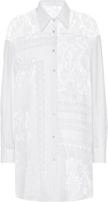 Golden Goose Flora lace and cotton shirt