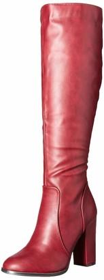 Michael Antonio Women's Izzie-pu Knee High Boot Cranberry 8 M US