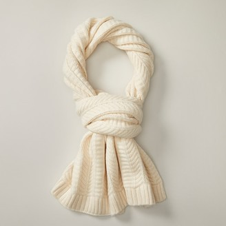 Love & Lore Love AND Lore CHEVRON SCARF WINTER IVORY