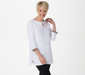 Denim & Co. Active French Terry Tunic with Trim Detail