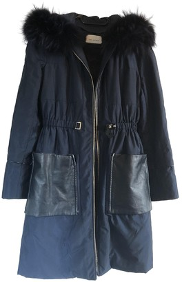 Yves Salomon Blue Raccoon Coat for Women