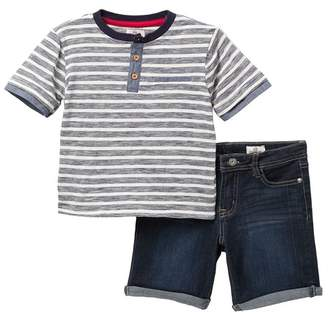 AG Jeans Stripe Henley T-Shirt & Shorts Set (Toddler Boys)