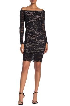 Jump Long Sleeve Off-The-Shoulder Dress