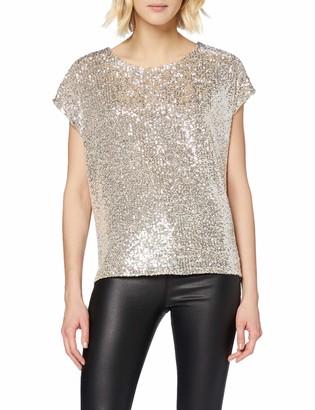 New Look Women's Go Sequin Oversize Tee Shirt