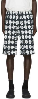 Vyner Articles Black Elasticized Shorts