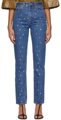 Ganni Blue Stud Jeans