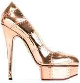 Charlotte Olympia 'Industrial Priscilla' pumps - women - Calf Leather/Leather - 35.5