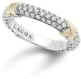 Lagos 18K Gold and Sterling Silver Diamond Ring